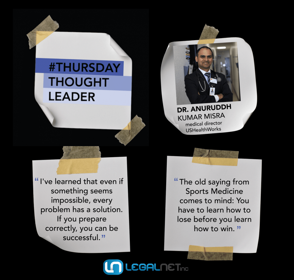 Dr. Anuruddh Kumar Misra shares his wisdom on this week's Thursday Thought Leader.