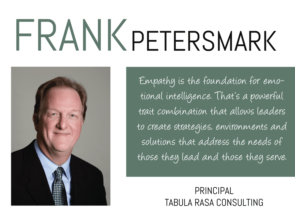 Frank Petersmark, Principal of Tabula Rasa Consulting, shares his wisdom on this week's Thursday Thought Leader.