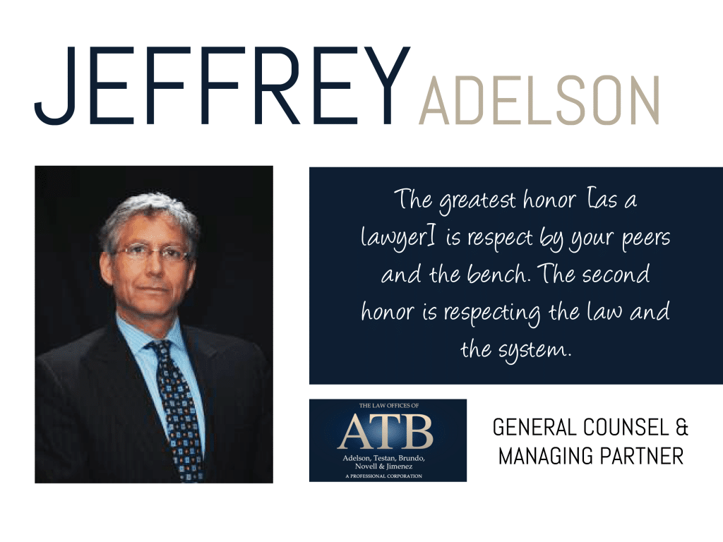 Jeffrey Adelson, General Counsel and Managing Partner of the Law Offices of ATB, shares his wisdom on this week's Thursday Thought Leader.